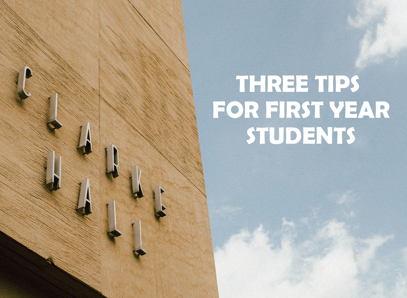 tips for first year college students