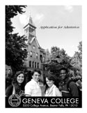 Click to open a PDF of the Geneva College application.