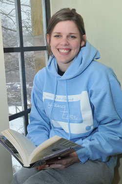 Julie Allen, human services major at Geneva College, is doing her intership with the Pittsburgh Promise.