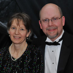 President Kenneth A. Smith and his wife at the President's Ball.