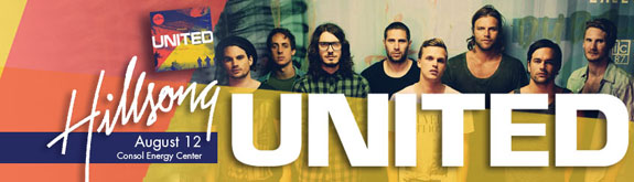 Join us for the Hillsong United Concert at the Consol Energy Center on Friday, August 12, 2011.