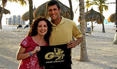 Rachel (Sproul) and John Michalko on their honeymoon in Aruba, June 2011.