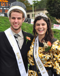 Homecoming king and queen - seniors Kyle Potter (engineering, Jamestown, NY) and Sofia Payson (communications, Mifflinburg, PA).