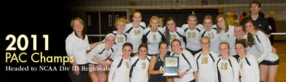 2011 PAC Volleyball Champs head to NCAA Div III Regionals