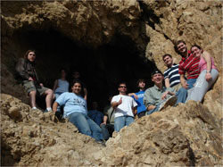 Students in Qumran Cave
