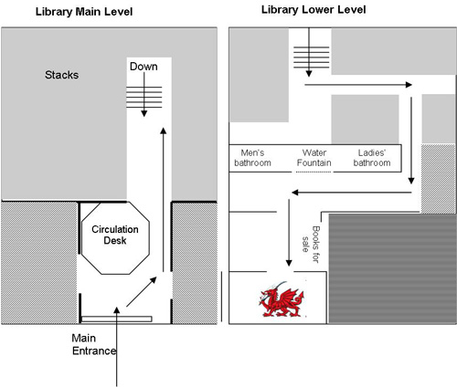 Location of The Pendragon Writing Center