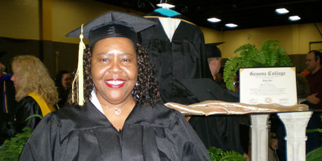 Deborah White ′08 is a graduate of Geneva College ADP′s first human services class.