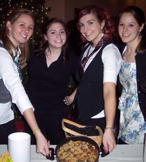 Students at the Soup Cook-off