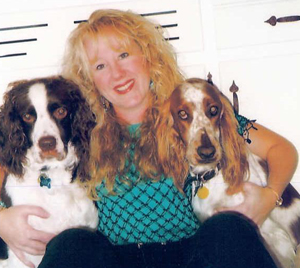 Denise Murphy-Gerber with Hershey and Maggie.