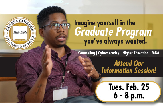 Geneva College Presents Graduate Degree Programs at Information Session