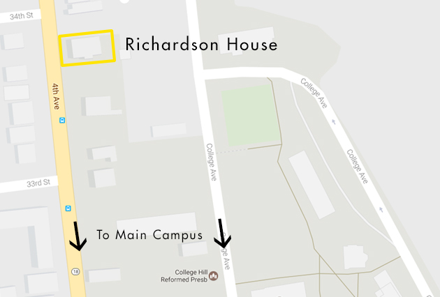 Geneva College Campus Map.Richardson House Geneva College A Christian College In
